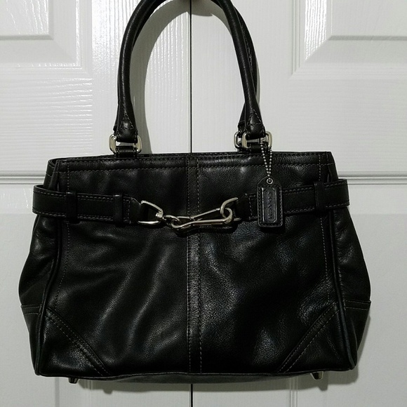 Coach Handbags - Coach Hampton Handbag Purse Satchel Black G0793